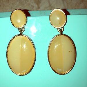 Gold two toned earrings